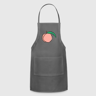 Peach Illustration - Adjustable Apron