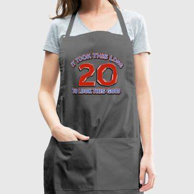 20th birthday design - Adjustable Apron
