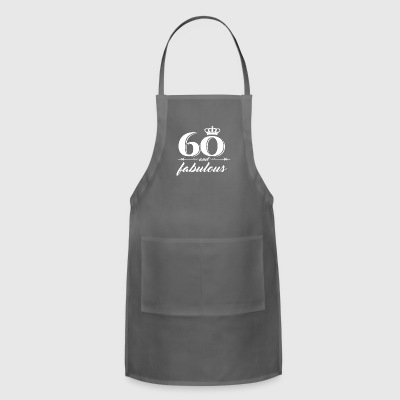 Womens 60th Birthday Gift Diamond 1957 T Shirt for - Adjustable Apron