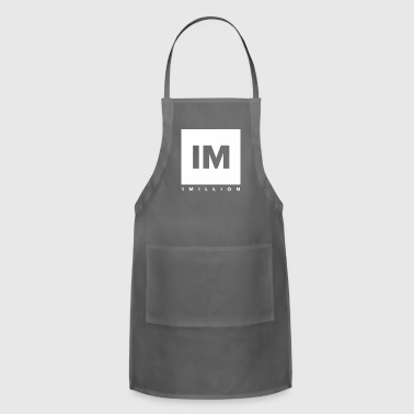 1 MILLION Dance Studio Logo (White Version) - Adjustable Apron
