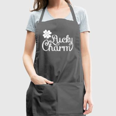 Lucky Charm 4 leaves Shamrock St.Patrick's Day - Adjustable Apron