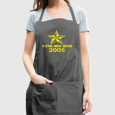 Star Was born in 2005, year of birth, gift - Adjustable Apron