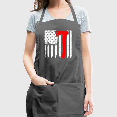 Proud American Lumberjack American Flag - Adjustable Apron