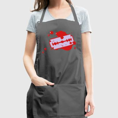 Razor Blade With Blood - Adjustable Apron