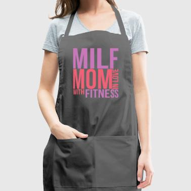 Milf Mom In Love With Fitness Gym Mum Mothers Day - Adjustable Apron