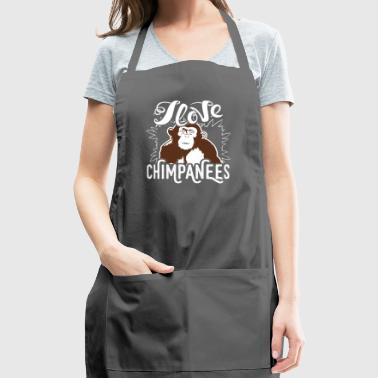 I Love Chimpanzees Shirt - Adjustable Apron