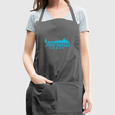 Retro Marseille Skyline - Adjustable Apron