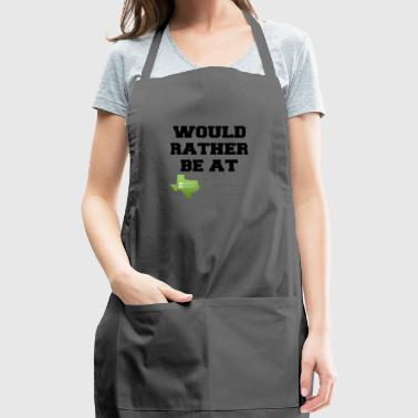 would rather be at - Adjustable Apron