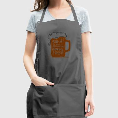 Funny Dad Beer T-Shirt - Adjustable Apron