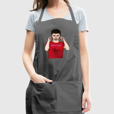 cute witty girl apologizes - Adjustable Apron