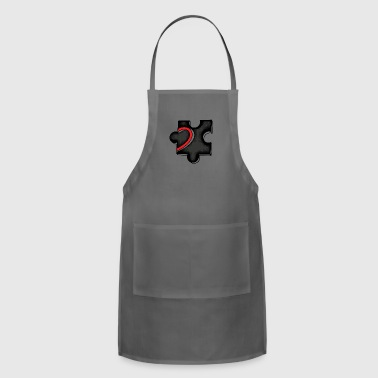 heart puzzle - Adjustable Apron