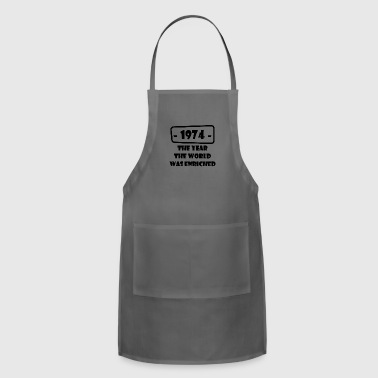 year world enriched birthday life start born 1974 - Adjustable Apron