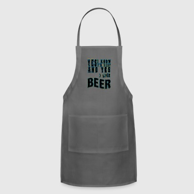 Cool beer I am girl and I like Beer - Adjustable Apron