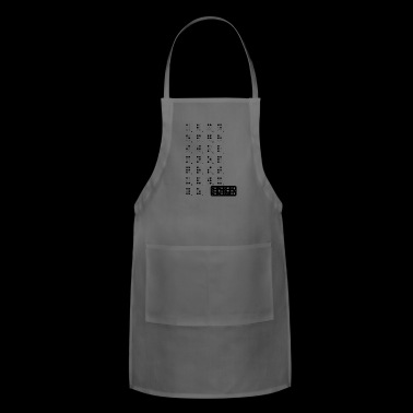 braille blak - Adjustable Apron