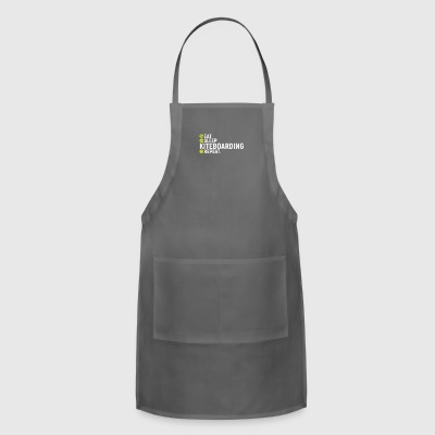 Eat, sleap, kiteboarding, repeat - gift - Adjustable Apron