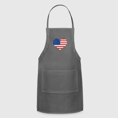 Big Heart - Fourth of July | Independence Day - Adjustable Apron