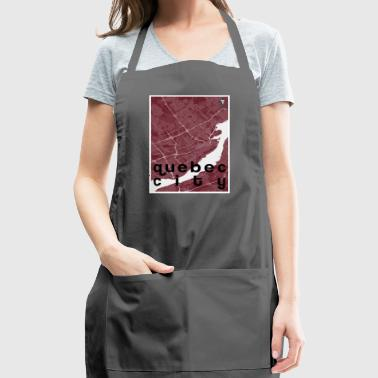 Quebec City hipster city map red - Adjustable Apron