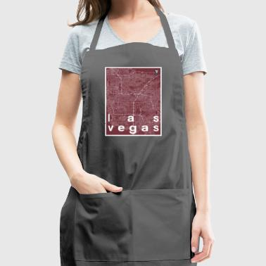 Las Vegas hipster city map red - Adjustable Apron