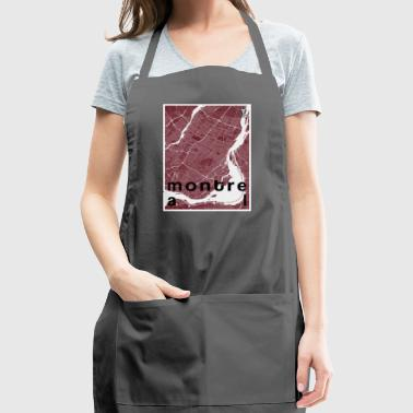 Montreal hipster city map red - Adjustable Apron
