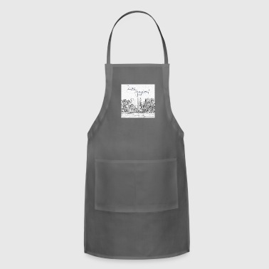 Los Angeles Downtown Skyscraper Cityscape Sunshine - Adjustable Apron