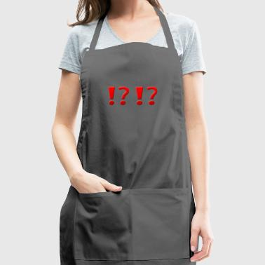 !? !? Question Mark Exclamation Mark Design - Adjustable Apron