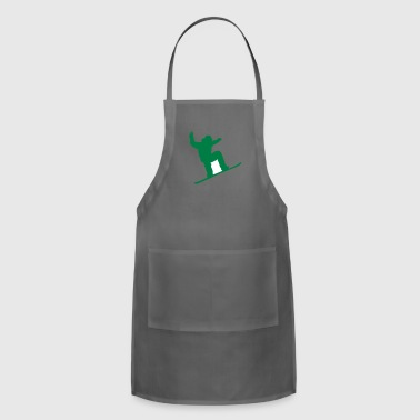 snow boarder silhouette - Adjustable Apron