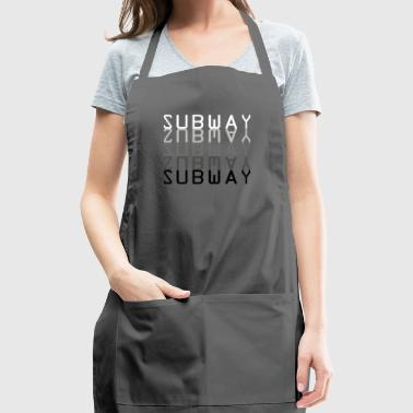 Subway grey scale mirrored - Adjustable Apron