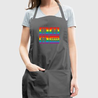 LGBT rainbow flag love gift homosexuals friends - Adjustable Apron