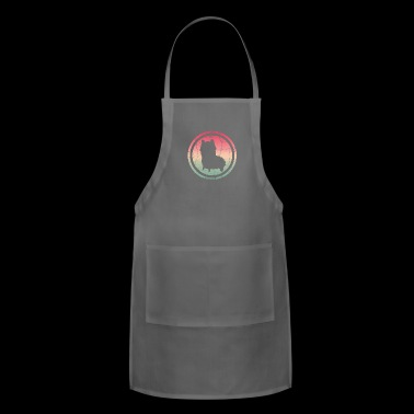 Llama heart gift idea - Adjustable Apron