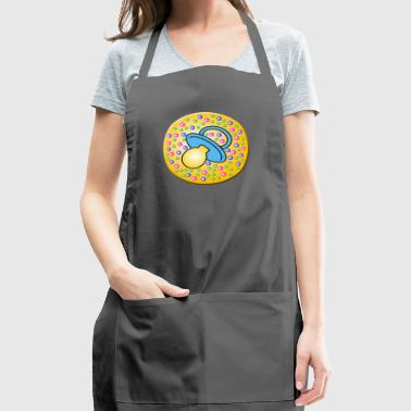 button with Baby pacifier - Adjustable Apron
