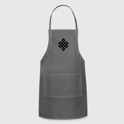Eternal Knot Buddhism funny tshirt - Adjustable Apron