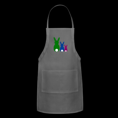three easter rabbits - Adjustable Apron