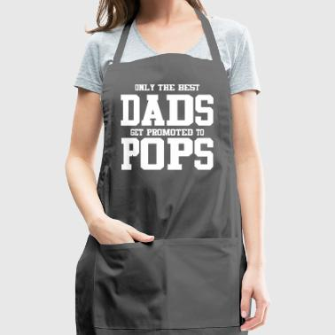 best dad promoted to pops - Adjustable Apron