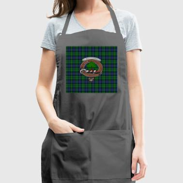 Abercrombie Clan Badge with Tartan - Adjustable Apron