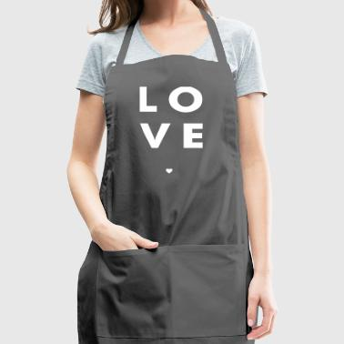 Love Stacked w/ A Heart (White Letters) - Adjustable Apron