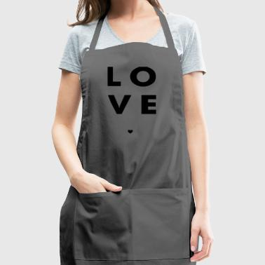 Love Stacked w/ A Heart (Black Letters) - Adjustable Apron