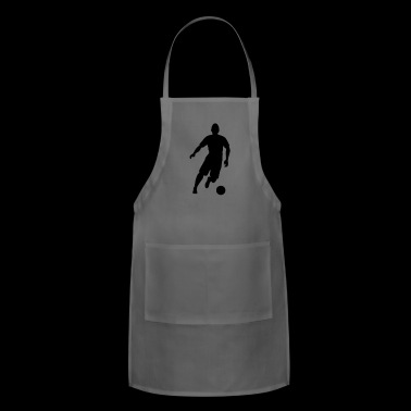 soccer kicker (silhouette) - Adjustable Apron