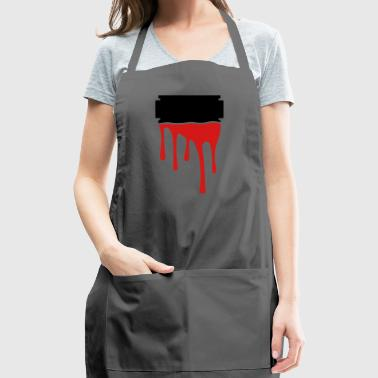 razor blade blood - Adjustable Apron