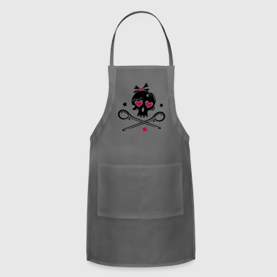 Skull girlie with hearts - Adjustable Apron