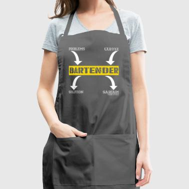 Problems Solution Coffee Sarcasm Effect Bartender - Adjustable Apron