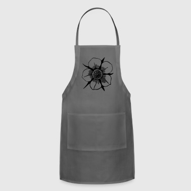 Flower Illustration - Adjustable Apron