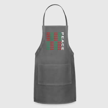 white PEACE - Adjustable Apron
