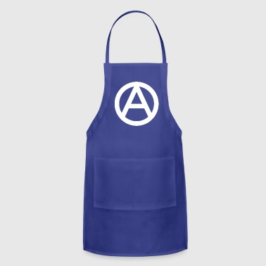 The Anarchy A Symbol  Anarchy Anarchist Logo white - Adjustable Apron