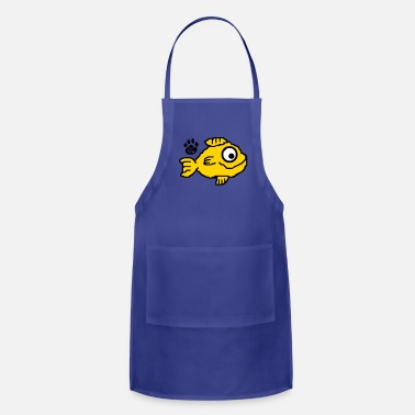 Sushi Catpaw Design Comic Cat Cats Kitten Fish Goldfish  - Adjustable Apron