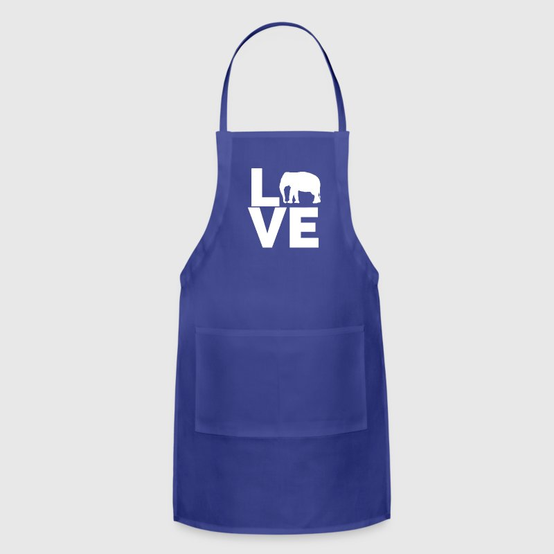 I Love Elephants Design - Adjustable Apron