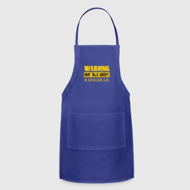 Warning May Talk About Scrabble - Funny Scrabble - Adjustable Apron