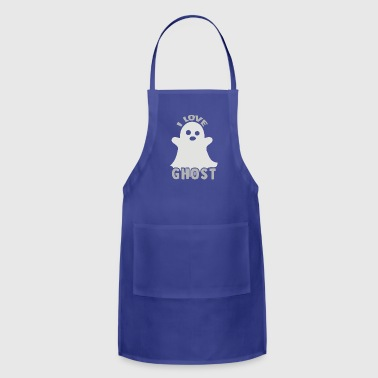 I Love Ghost Gift cute kids present halloween - Adjustable Apron