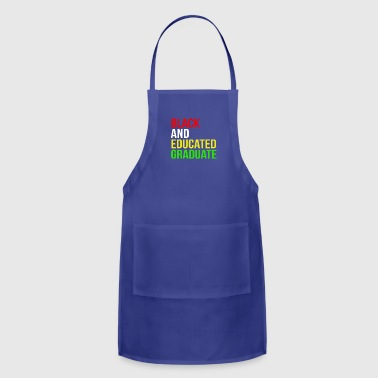 African American Black Educated Graduation African American - Adjustable Apron