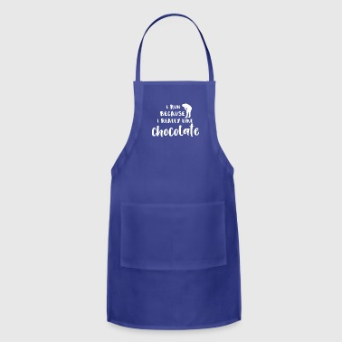 Marathon Running I Run Because I Really Like Chocolate - Adjustable Apron