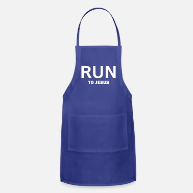 Christian Running to Jesus,Christian,Bible - Apron
